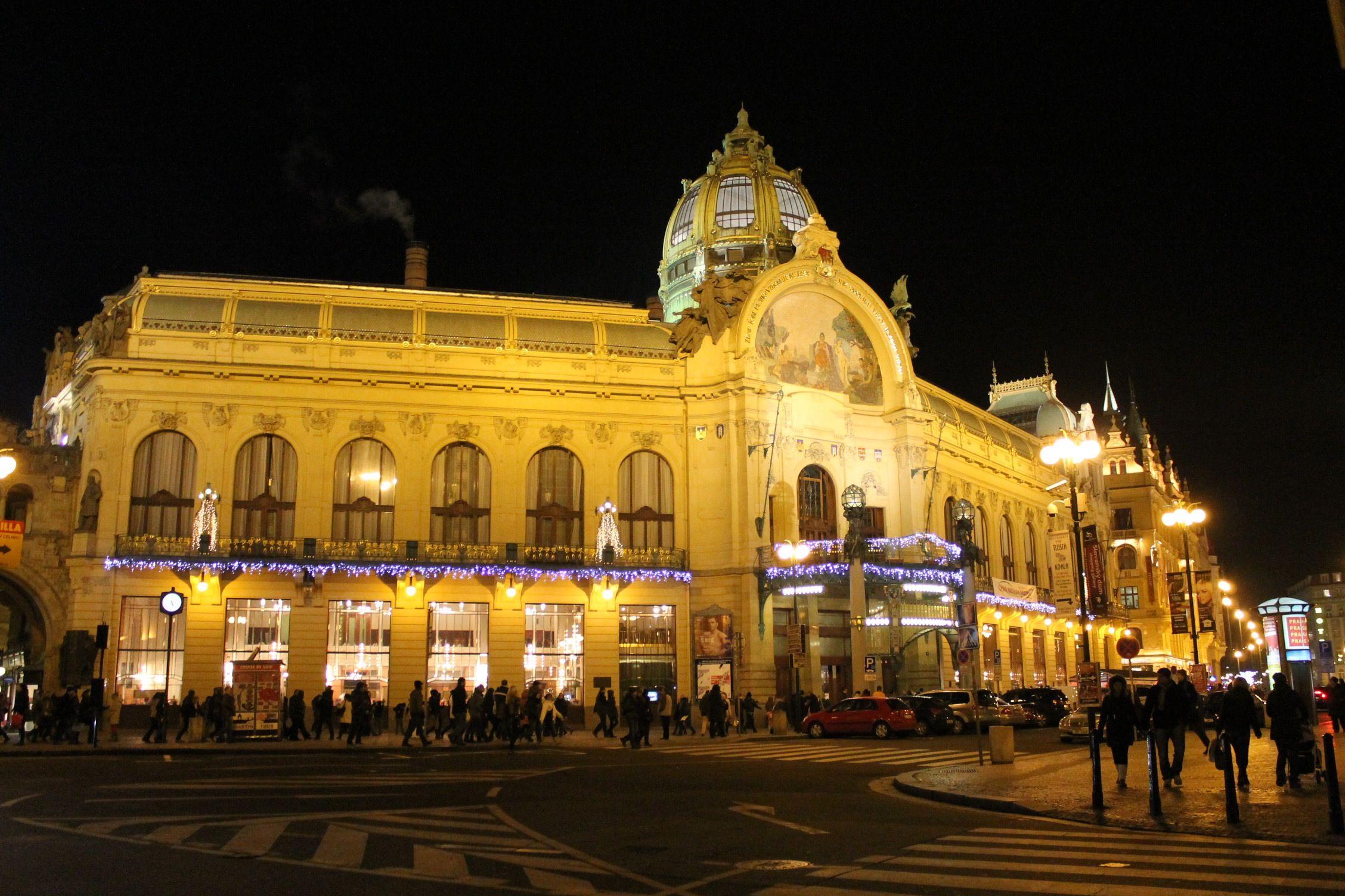 Prague : la Maison Municipale durant les Fêtes de fin d'années